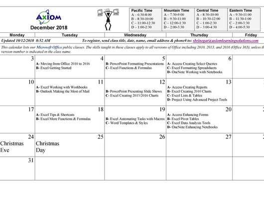Usi Calendar.Calendar Elearning Learning