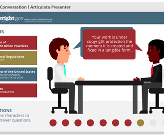 Conversation and templates elearning learning free powerpoint template conversation interaction toneelgroepblik Gallery