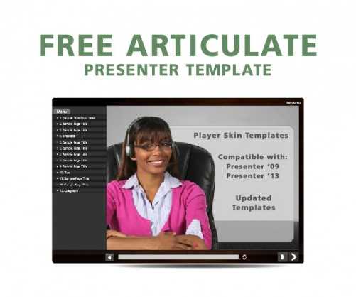 Articulate presenter and templates elearning learning free articulate presenter template player skin maxwellsz