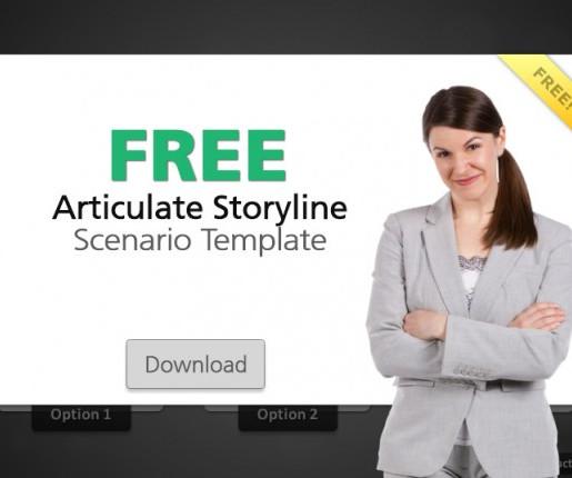 free articulate storyline template scenario