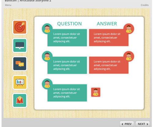 Module and templates elearning learning heres a free e learning template made with free icons toneelgroepblik Images